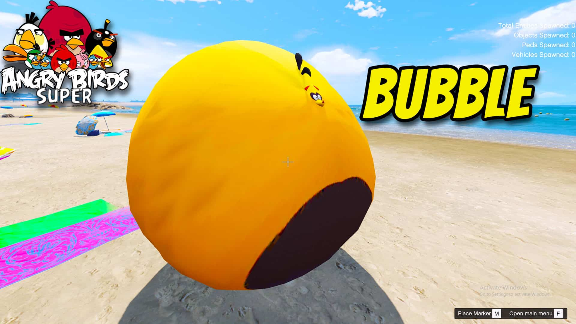 GTA 5 Mod Angry Bird Bubble