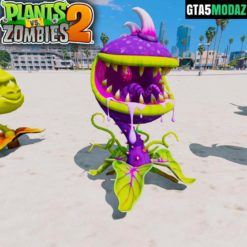 GTA 5 Mod Chomper Plants Zombies