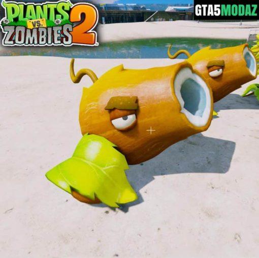 GTA 5 Mod Coconut Canon Plants Zombies