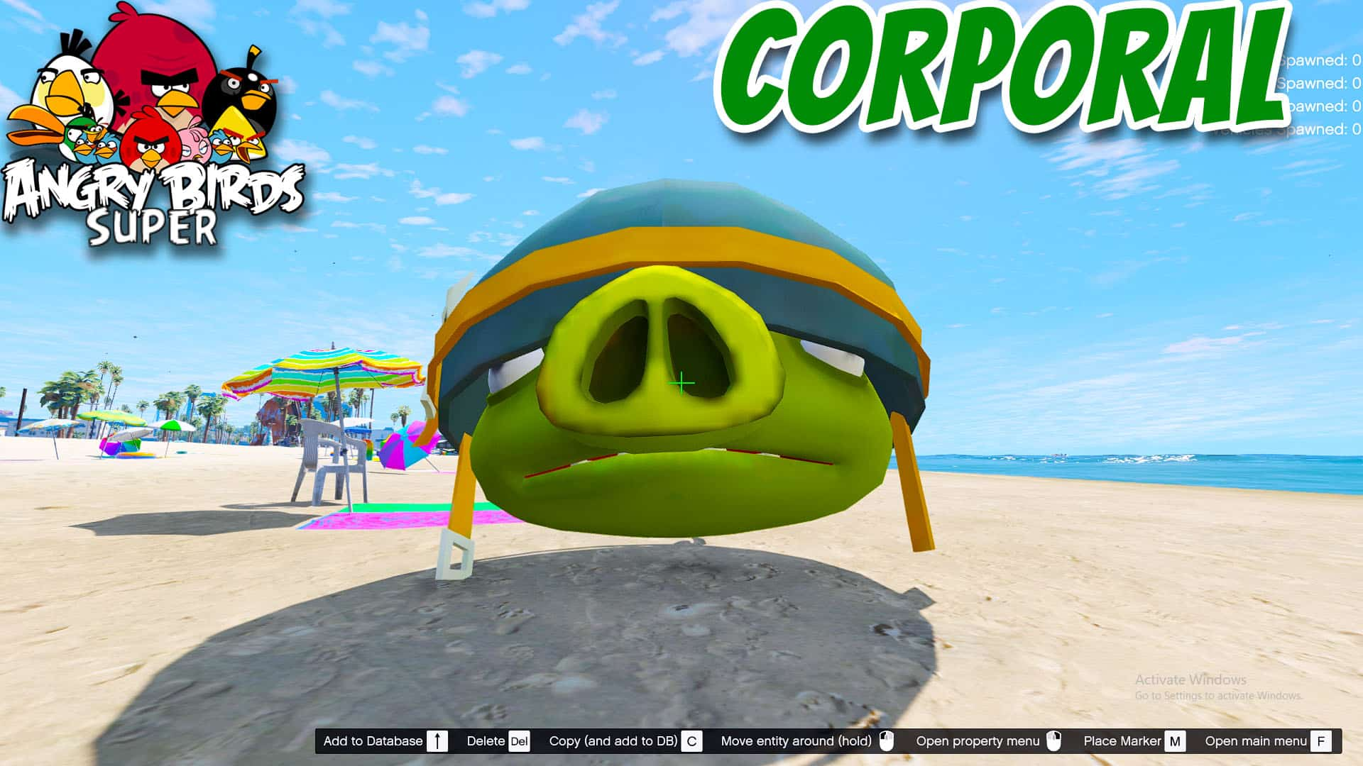 GTA 5 Mod Angry Bird Corporal