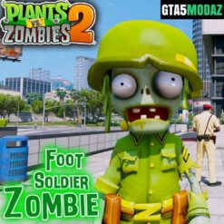 GTA 5 Mod Foot Soldier Plants vs Zombies