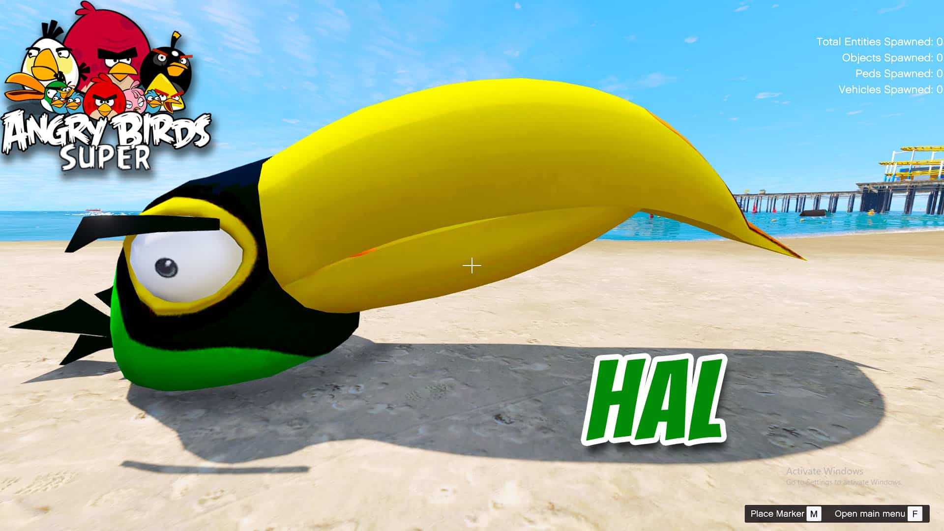 GTA 5 Mod Angry Bird Hal