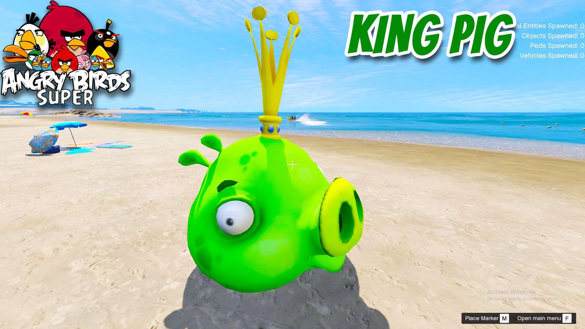 GTA 5 Mod Angry Bird King Pig