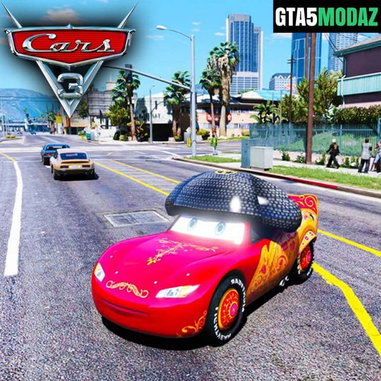 gta 5 mod disney cars lightning mcqueen with hat  best