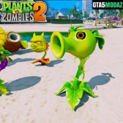 GTA 5 Mod Peashooter Plants Zombies