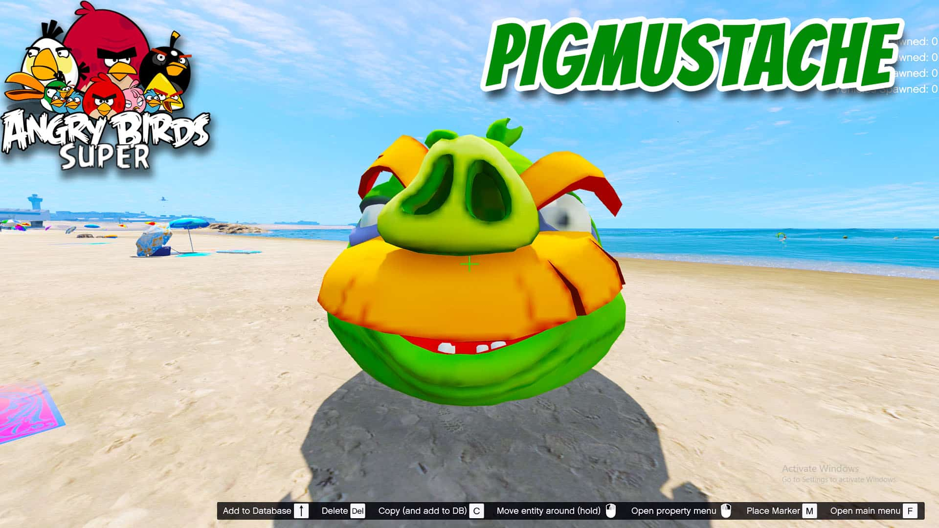 GTA5 Mod Angry Bird Pig Mustache