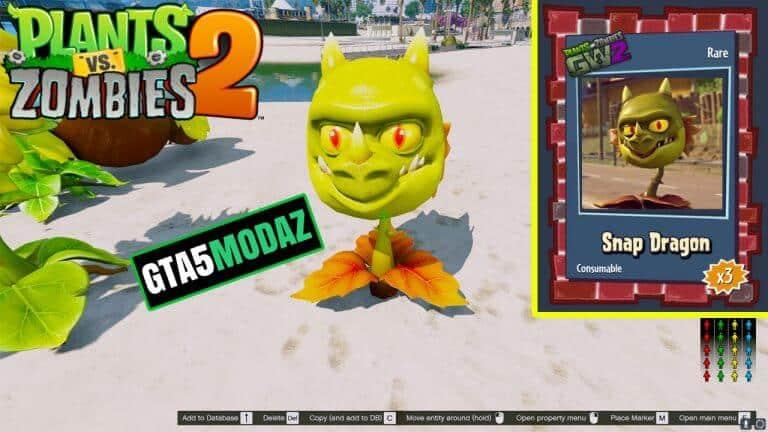 GTA 5 Mod Snapdragon Plants Zombies