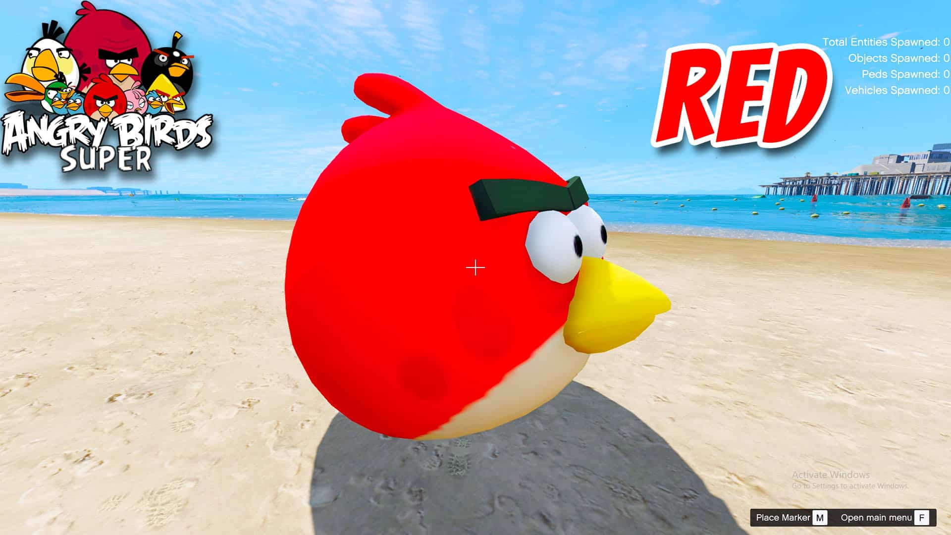 GTA 5 Mod Angry Bird Red