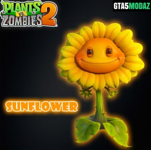 GTA 5 Mod Sunflower Plants Zombies