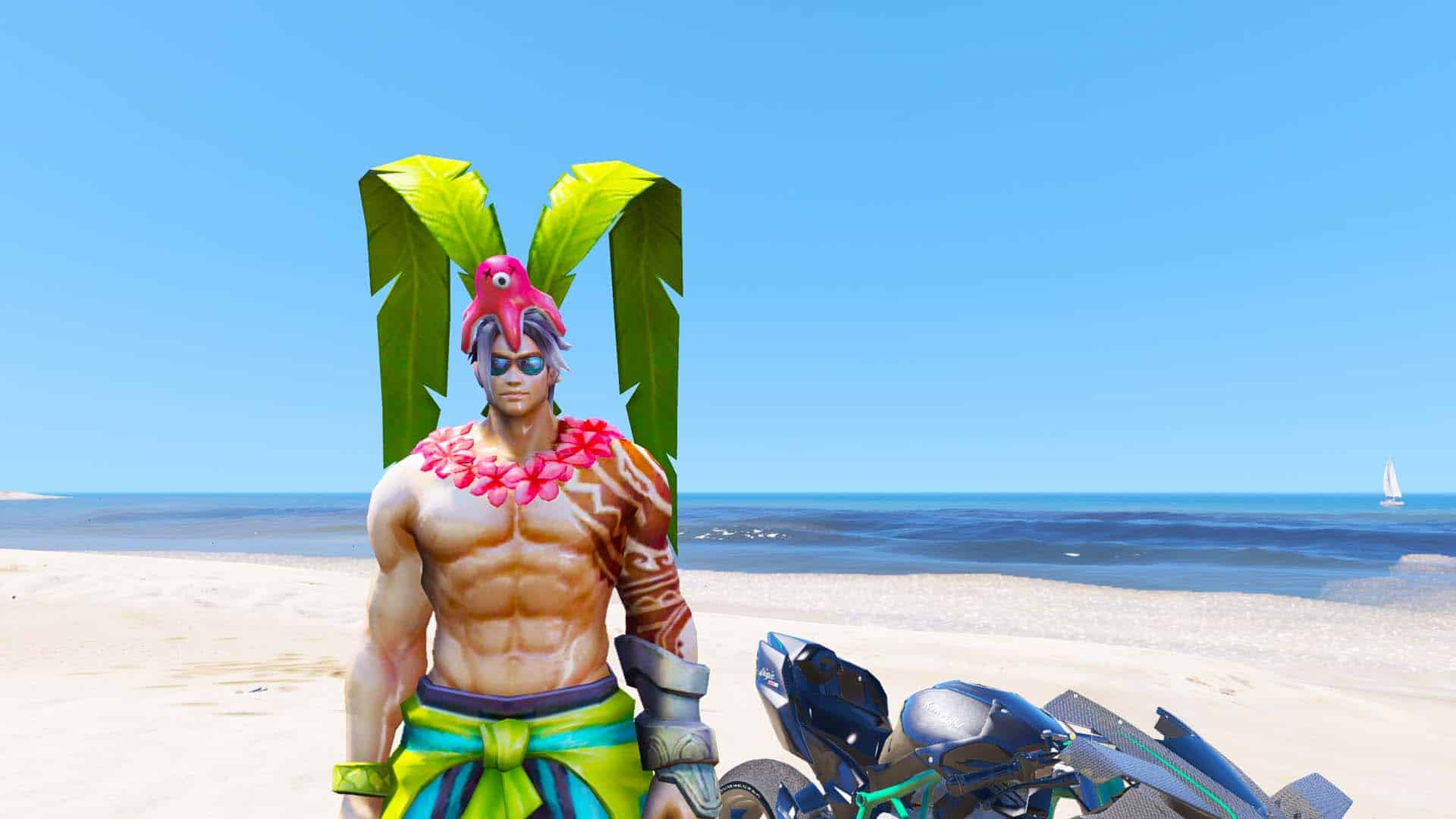 GTA 5 Mod Lu Bu Summer Bash Skin