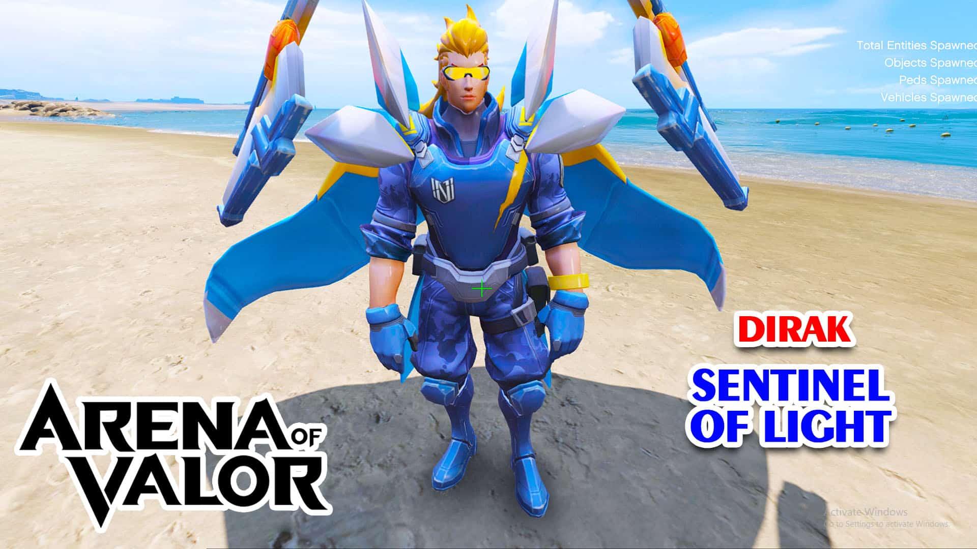 GTA 5 Mod Dirak Sentinel of Light Arena of Valor