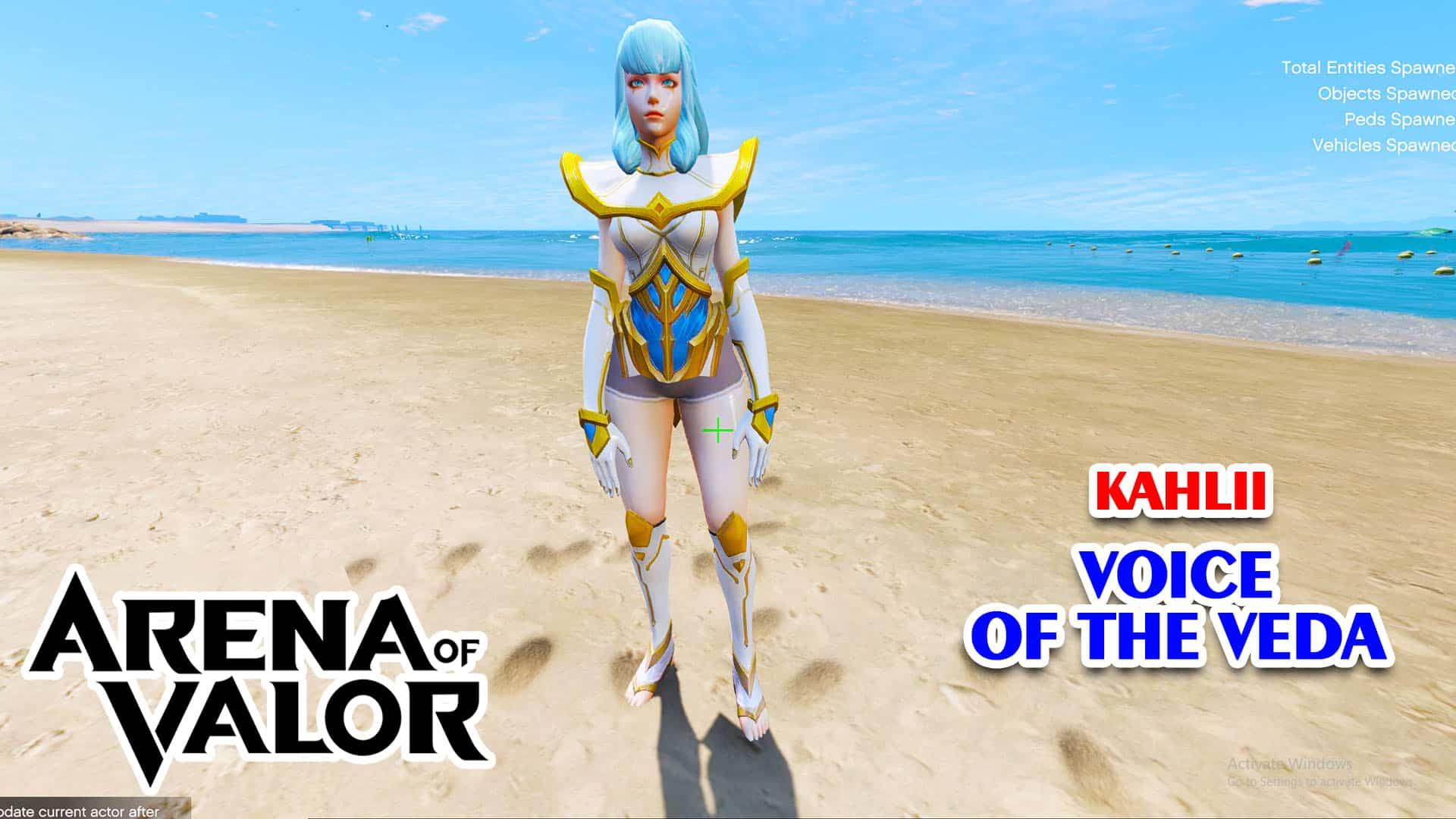 GTA 5 Mod Kahlii Voice of the Veda Arena of Valor