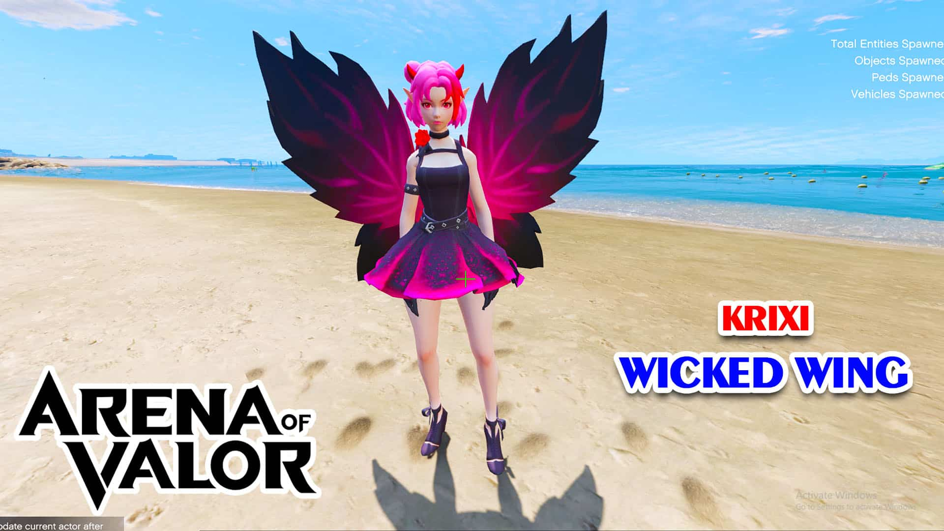 GTA 5 Mod Krixi Wicked Wings Arena of Valor