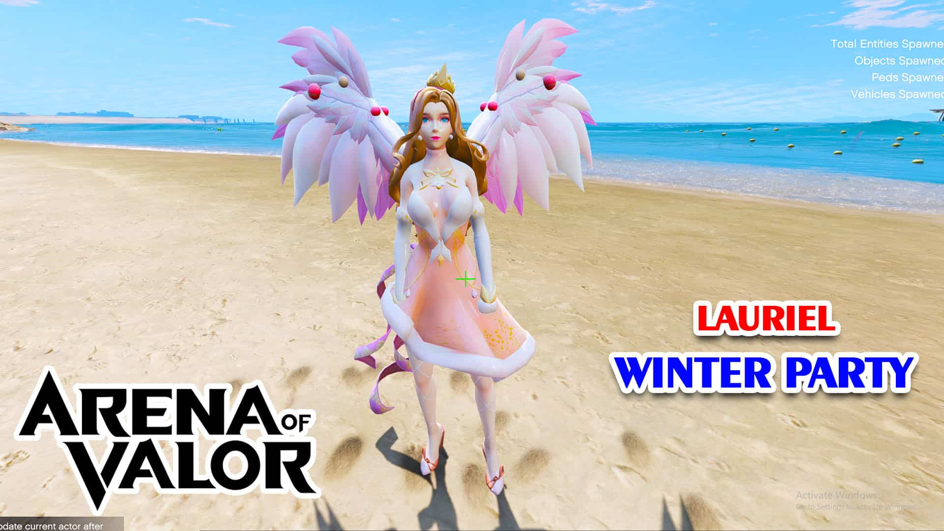 GTA 5 Mod Lauriel Winter Party Arena of Valor