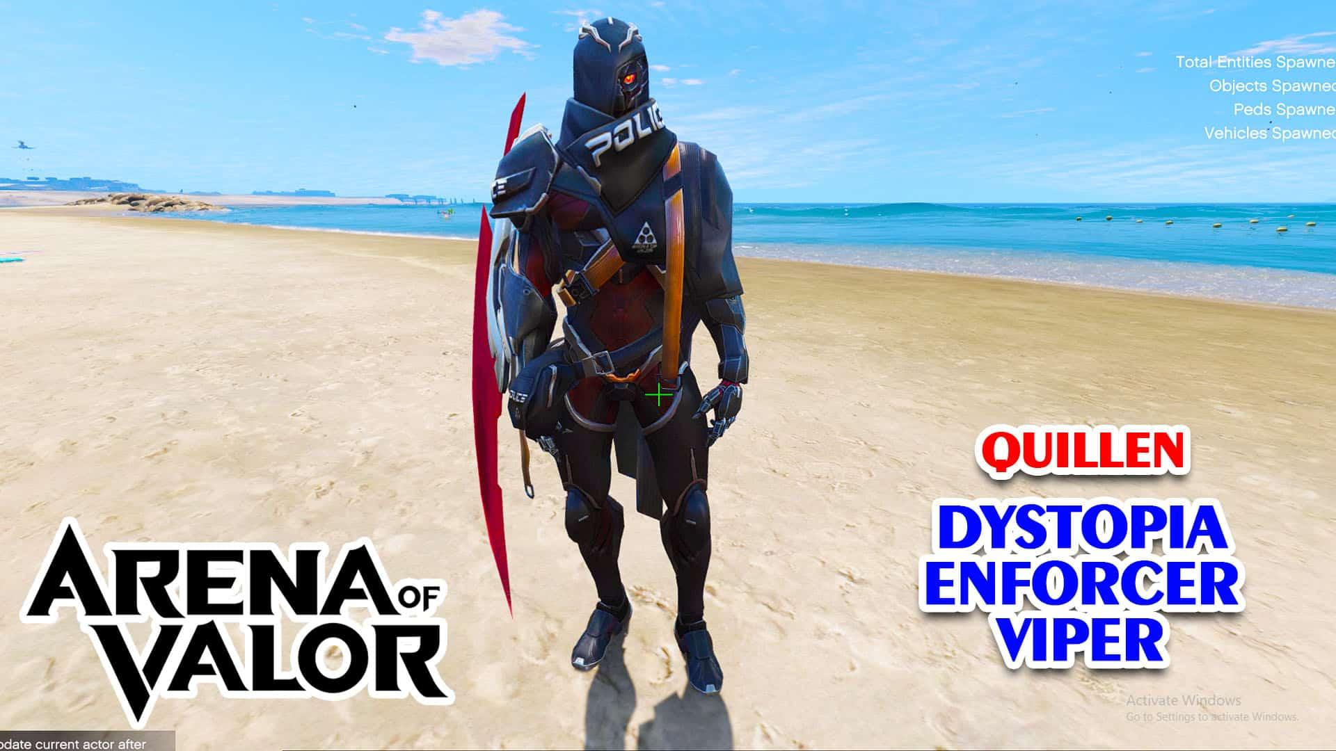 GTA 5 Mod Quillen Dystopia Enforcer Viper Arena of Valor