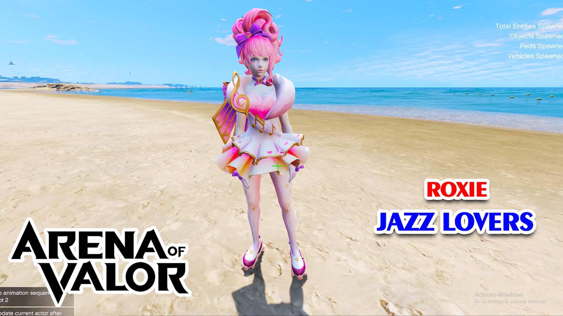 GTA 5 Mod Roxie Jazz Lovers Arena of Valor