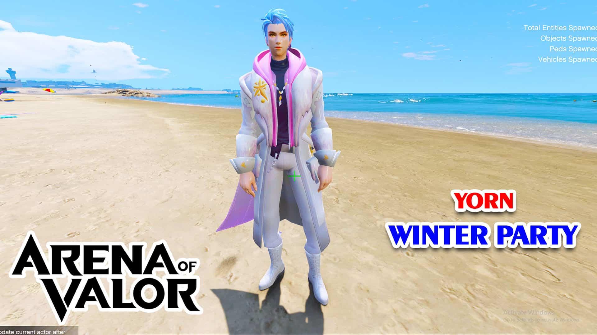GTA 5 Mod Yorn Winter Party Arena of Valor
