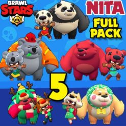 GTA 5 Mods Brawl Stars NITA FULL PACK
