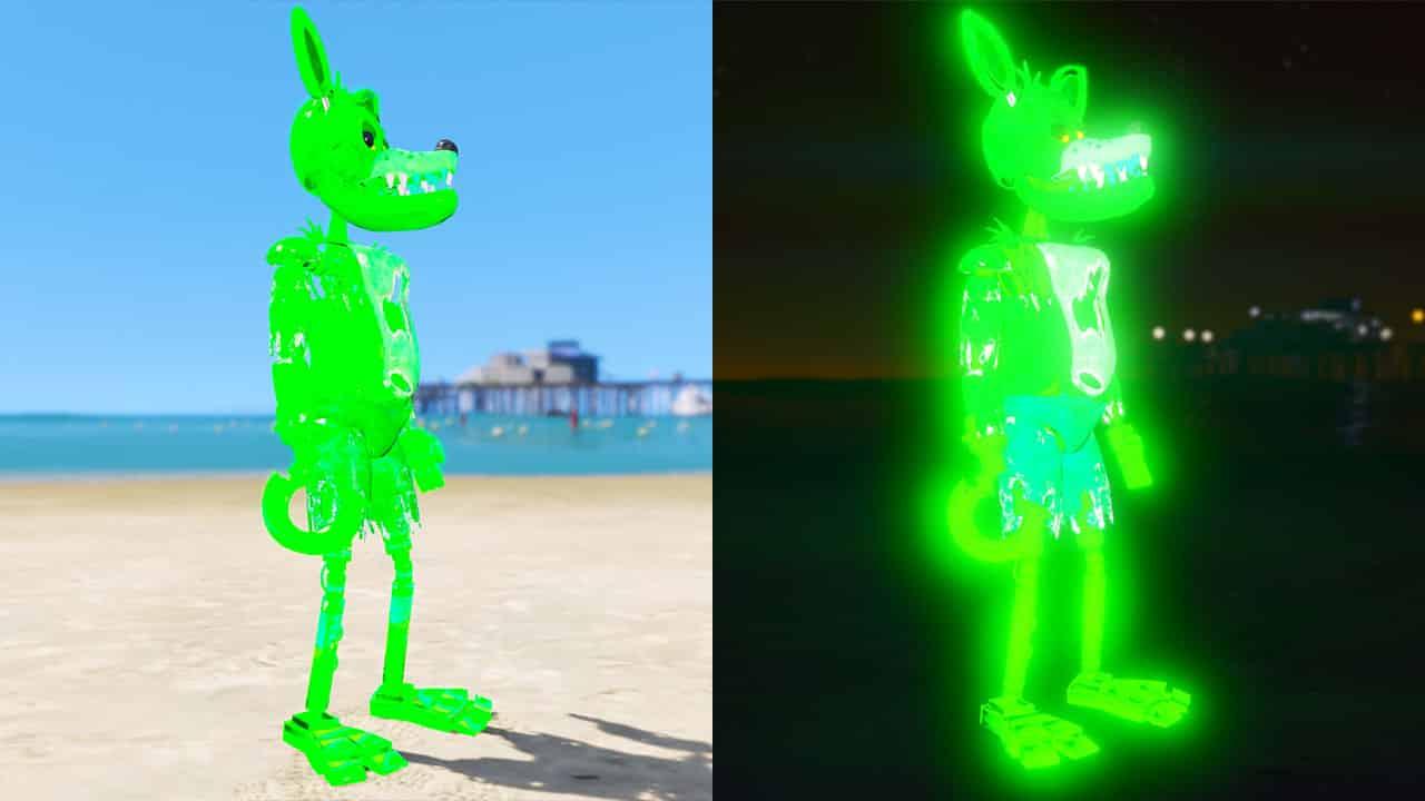 GTA 5 Mods FNAF Radioactive Foxy