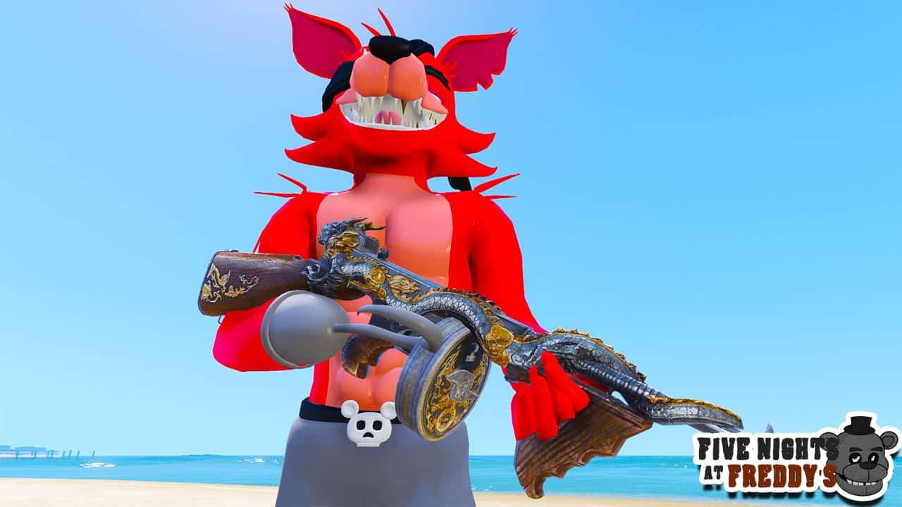GTA 5 Mods FNAF Samurai Foxy