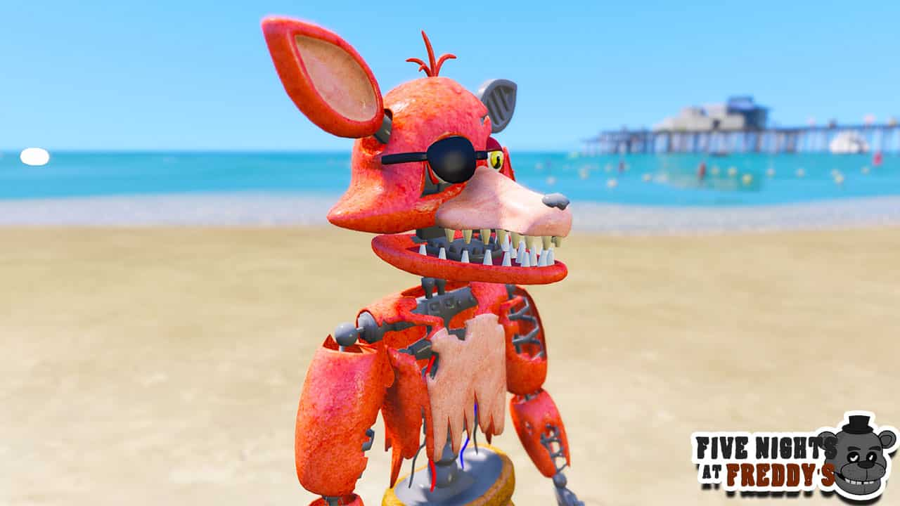 GTA 5 Mods FNAF Withered Foxy