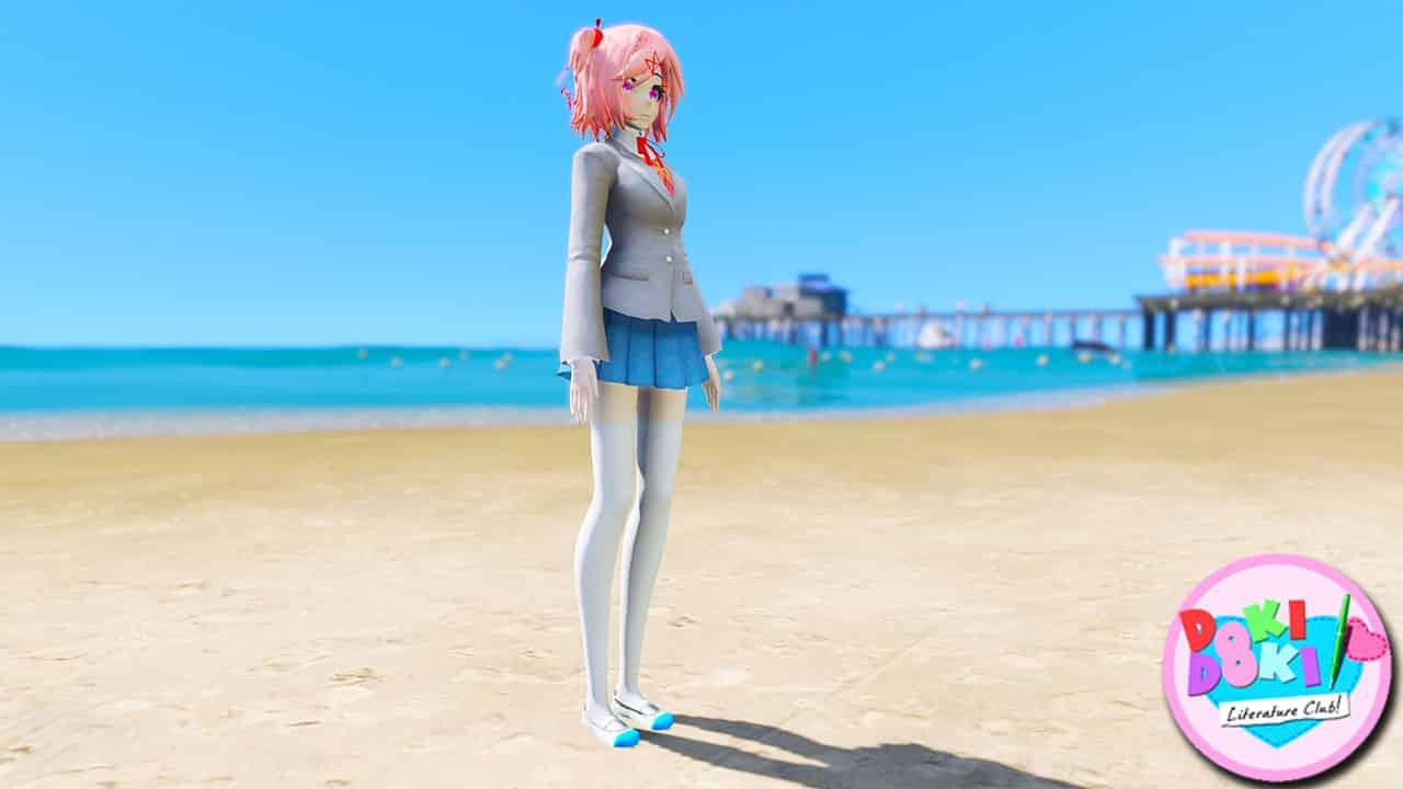 GTA 5 Mods Natsuki in Doki Doki Literature Club