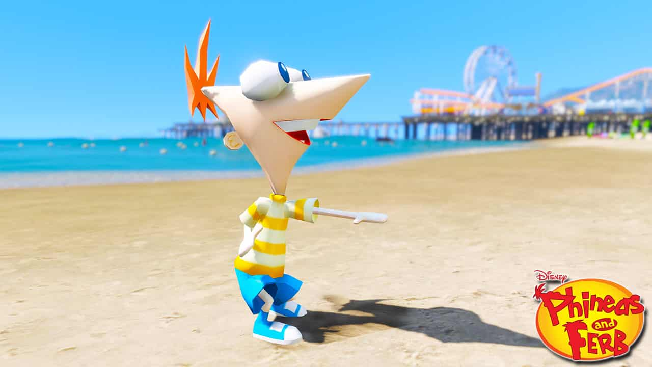 GTA 5 Mods Phineas in Phineas and Ferb