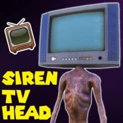 GTA 5 Mods Siren TV Head