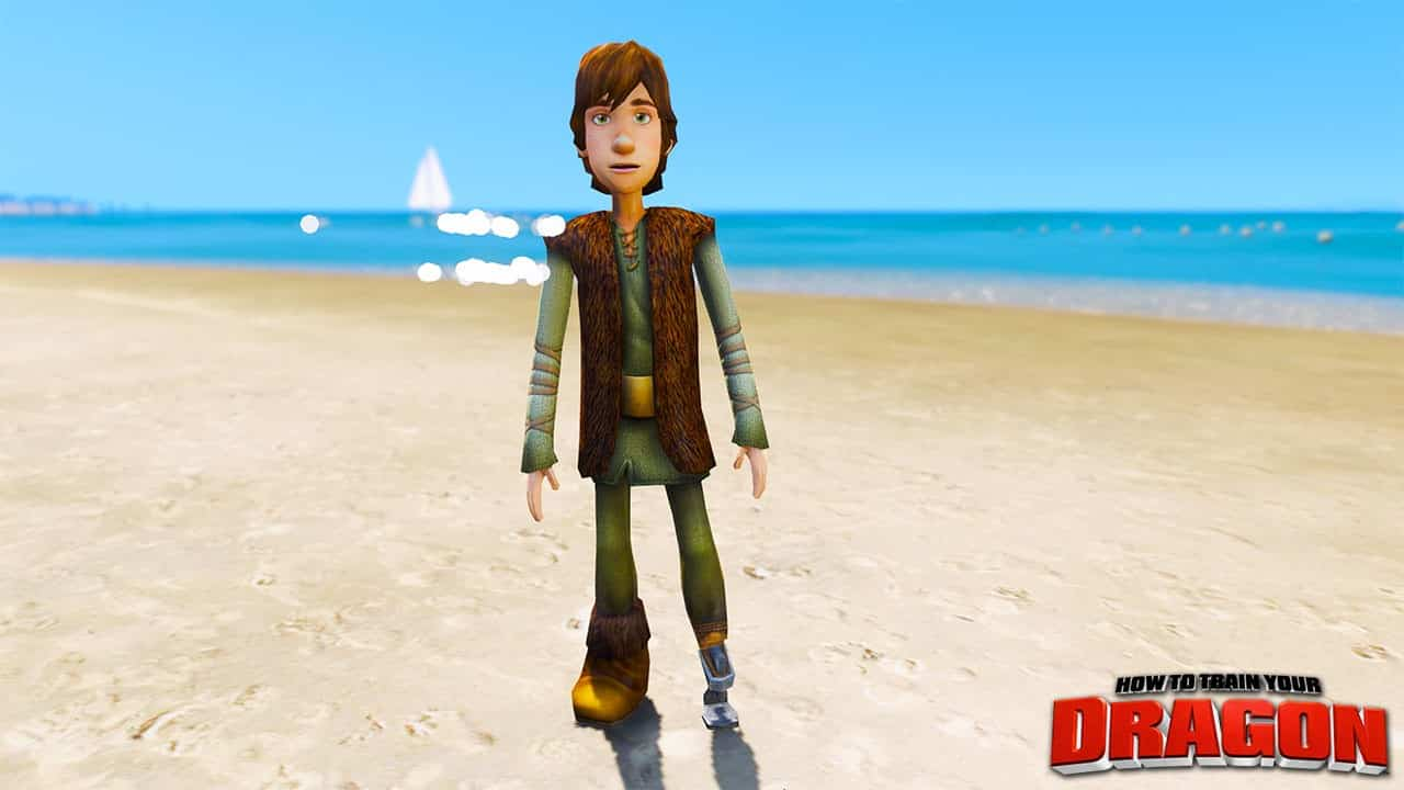GTA 5 Mods Young Hiccup in How To Train Your Dragon
