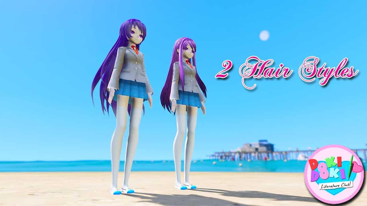 GTA 5 Mods Yuri in Doki Doki Literature Club