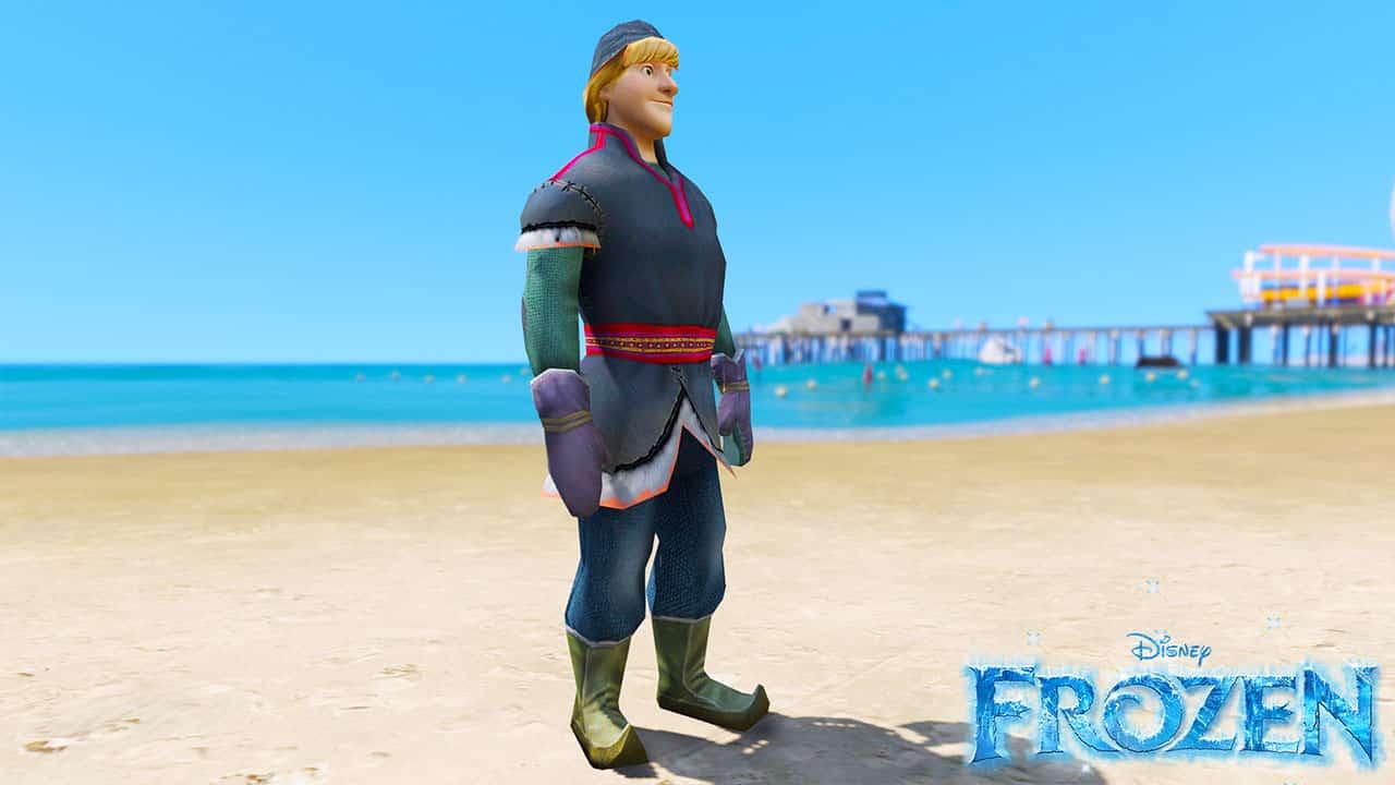 GTA 5 Mods Kristoff in Disney Frozen