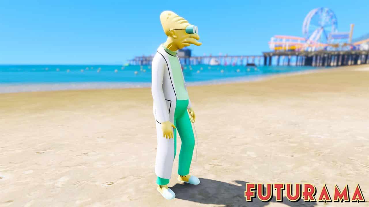 GTA 5 Mods Professor Farnsworth in Futurama