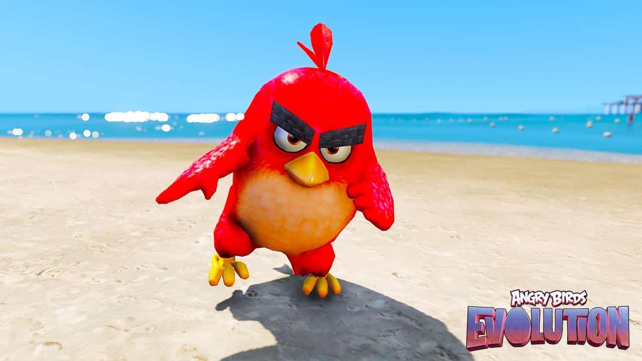 GTA 5 Mods Angry Bird Revolution Red