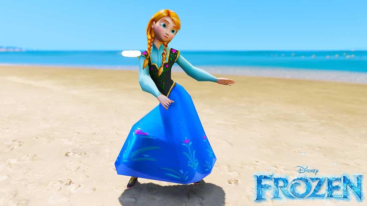 GTA 5 Mods Anna in Disney Frozen
