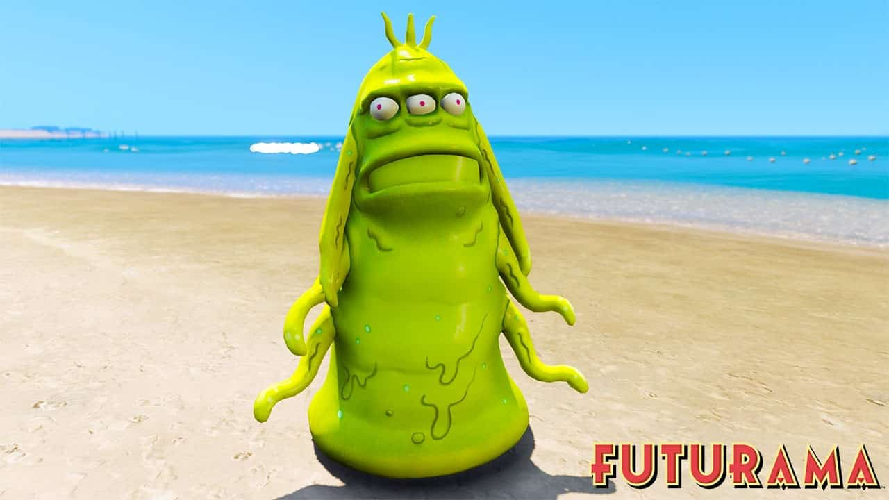 GTA 5 Mods Blob in Futurama