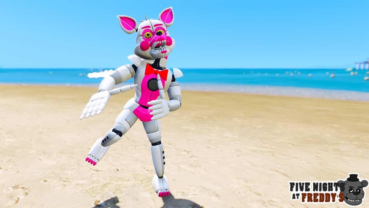 GTA 5 Mods FNAF Funtime Foxy