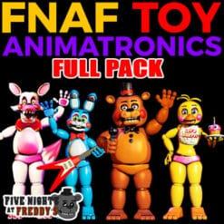 GTA 5 Mods FNAF Toy Animatronics FULL PACK
