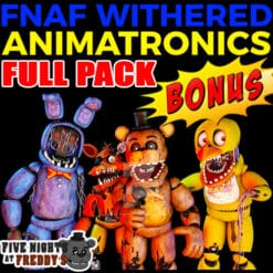 GTA 5 Mods FNAF Withered Animatronics FULL PACK