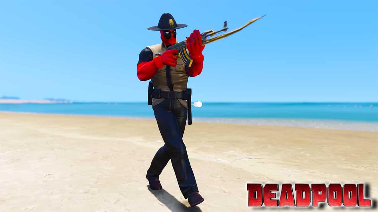GTA 5 Mods Deadpool Sheriff