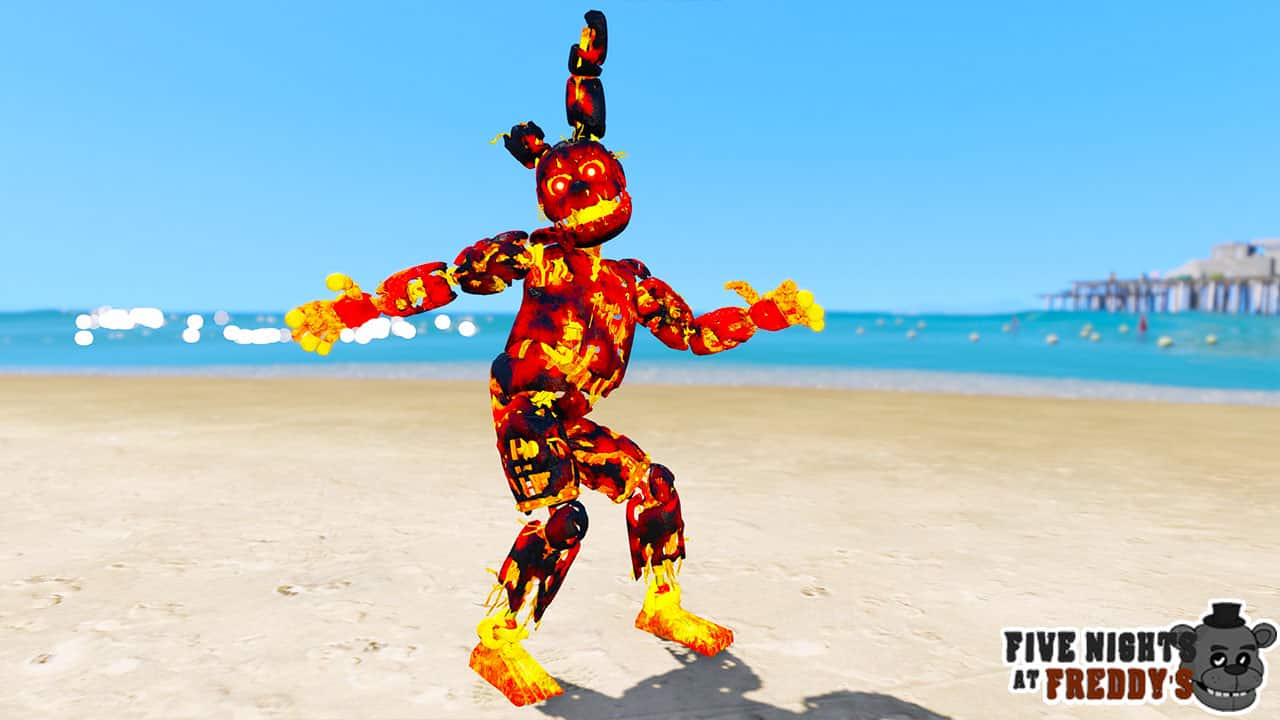 GTA 5 Mods FNAF Flaming Spring Trap