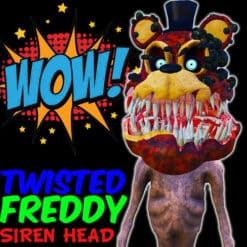 GTA 5 Mods Twisted Freddy Siren Head